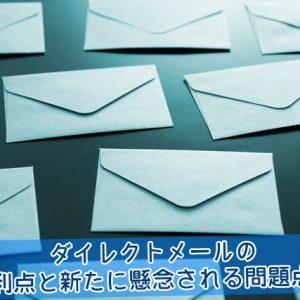ダイレクトメールの利点と懸念される問題点